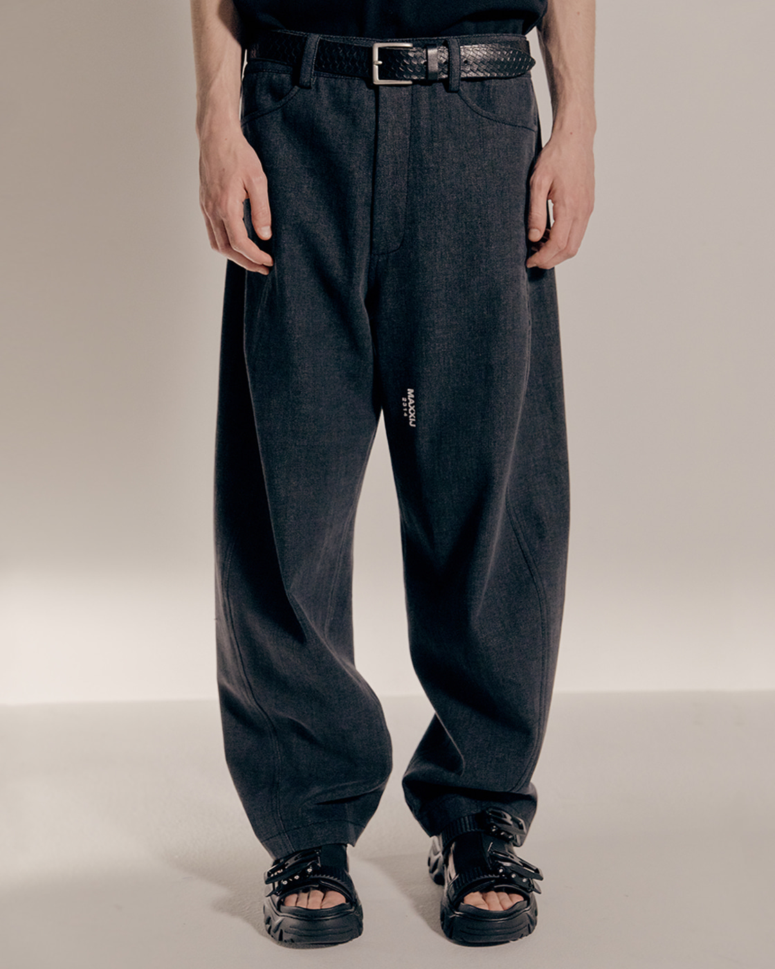 Denim Signature Wave Seam Trousers