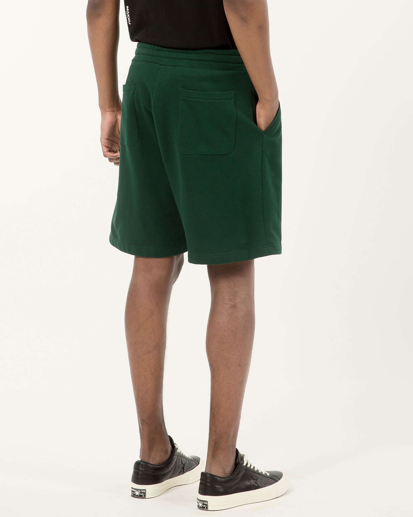 Basic Logo Jersey Shorts Dark Green