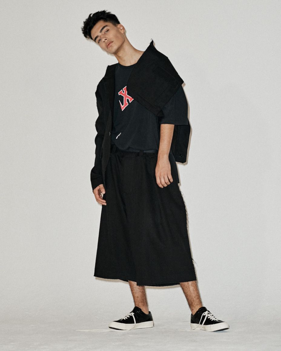 Oversized Waist belt Denim Wide Trousers