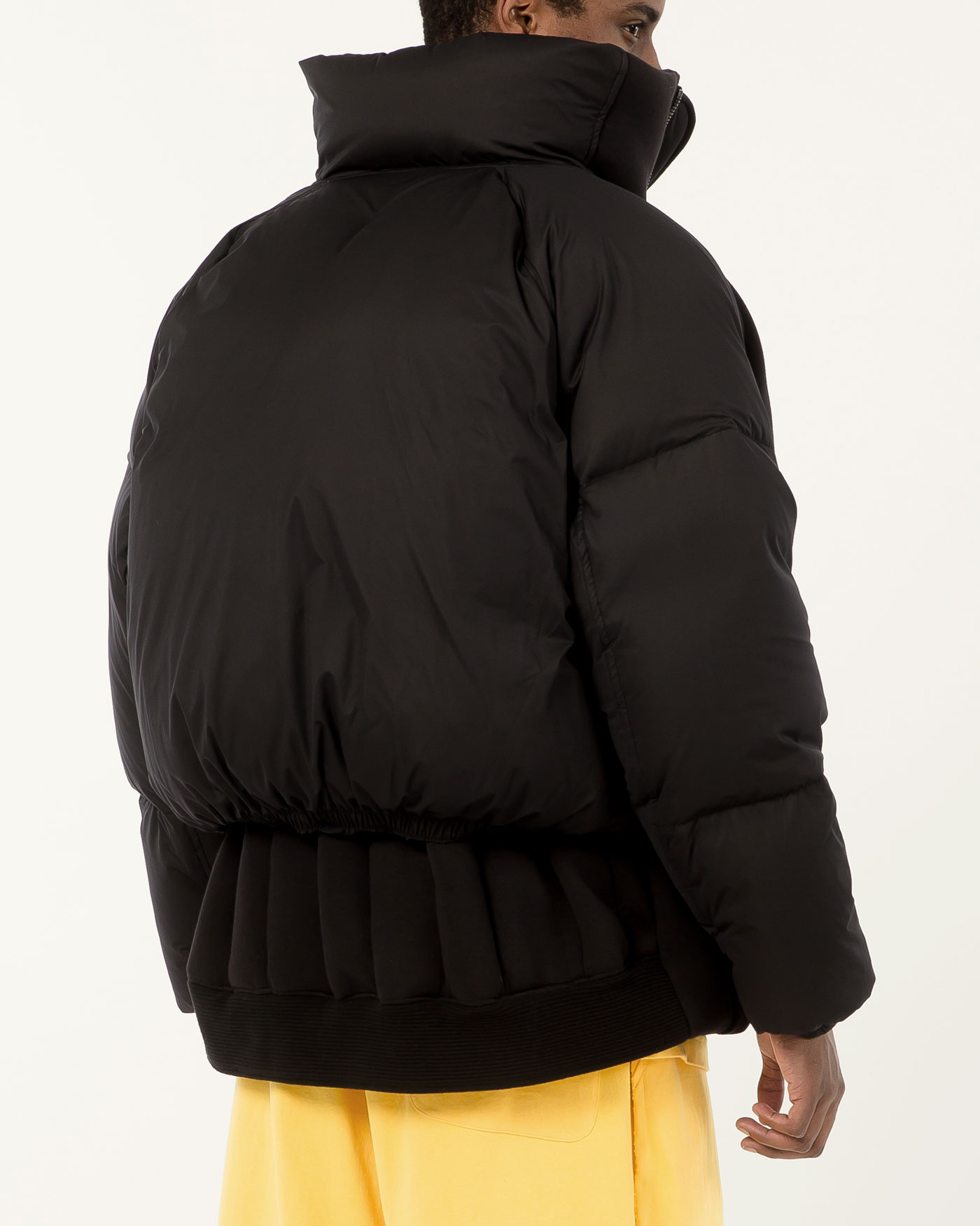 Masqueraded Goose Down Short Parka