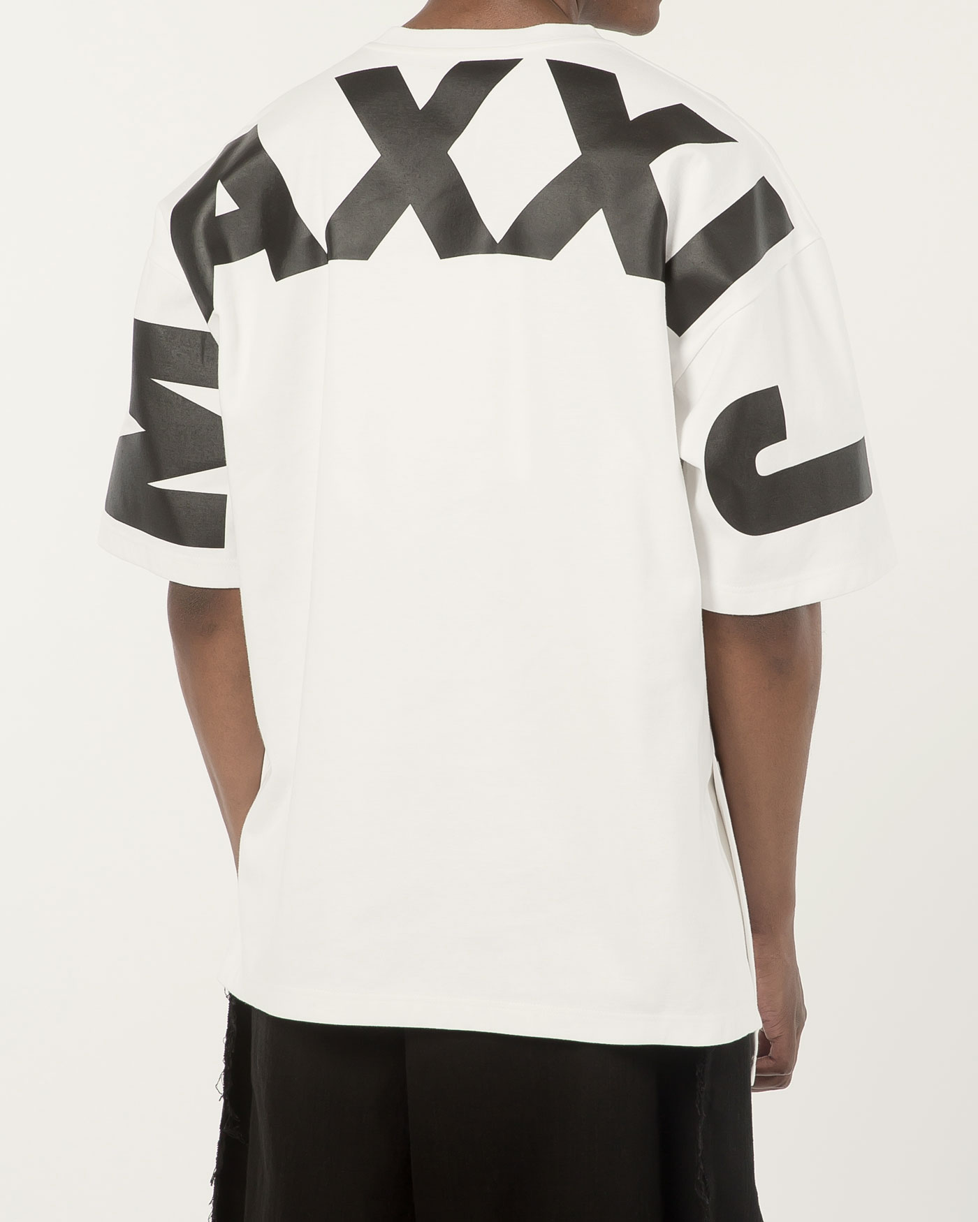 Oversized Big Logo Printed Tshirt White
