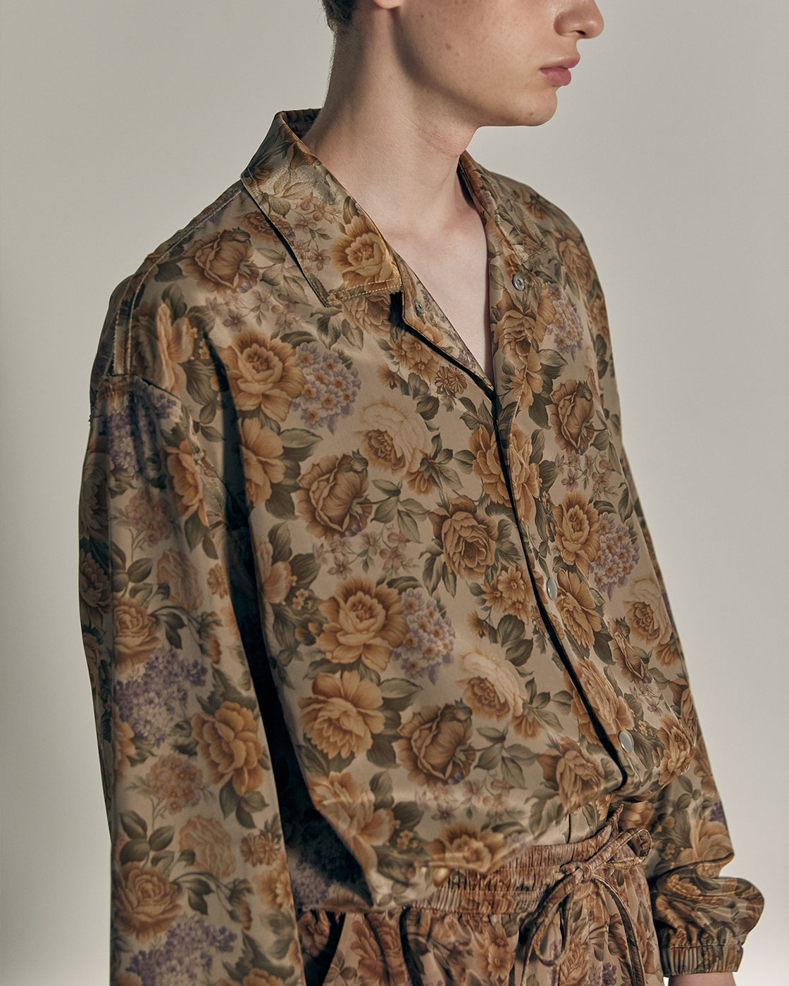 Glossy Gold Flower Seam Out Coach Jacket
