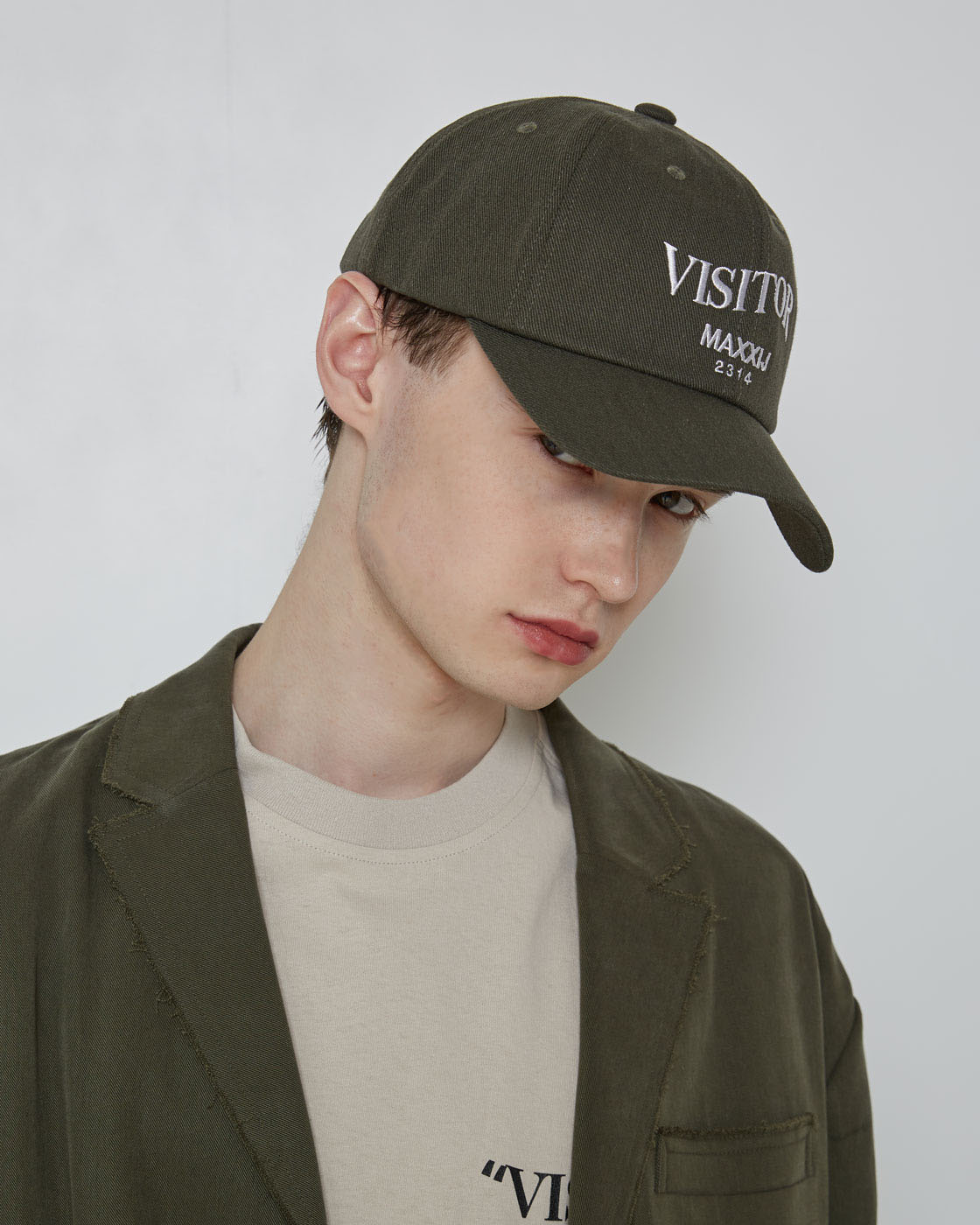 Khaki 'VISITOR' ball cap