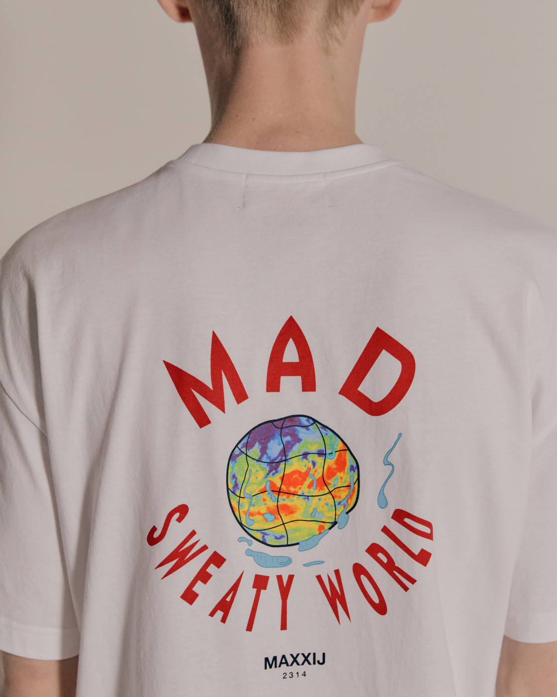 Sweaty Mad World Cotton Jersey T-shirts White