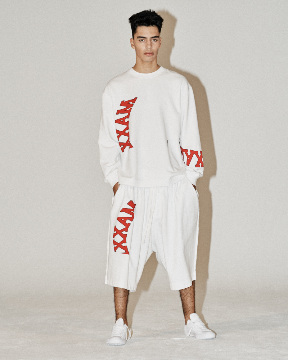 Collage Printed Sweatshirt White